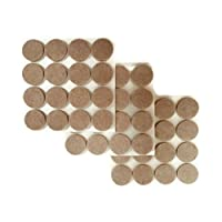 "1"" Inch Self Adhesive Felt Furniture Pads, Heavy Duty, Oatmeal Color, 48 Piece Pack, by Homeneeds"