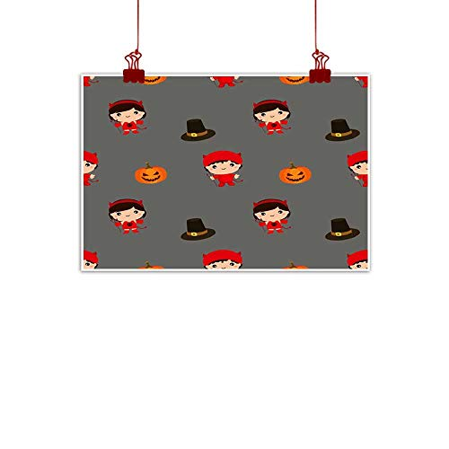 duommhome Modern Oil Paintings Halloween Pattern Kid Costume Pattern Modern Oil Paintings 28