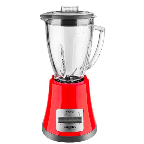 Oster BLSTMG Red 8 Speed 6-Cup Glass Jar Blender, 220 Volts (Not for USA)