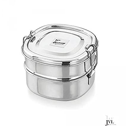 Buy Jvl Dck 1 Stainless Steel Chakra Lunch Box Double Small Online