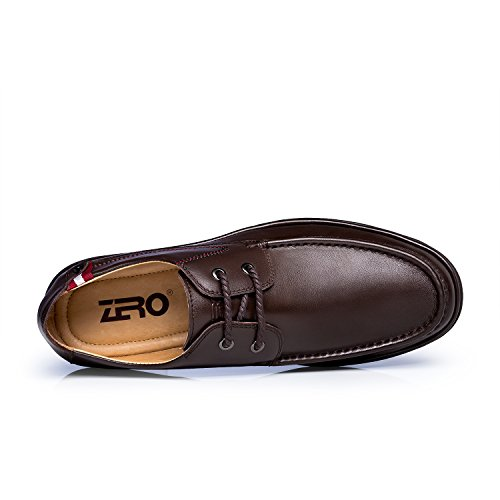 ZRO Men's Lace Up Business Casual Comfortable Shoes Brown US 8.5 by ZRO (Image #2)