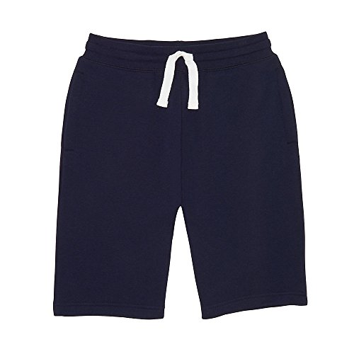 French Toast Boys' Big Fleece Gym Short, Navy, L (10/12) by French Toast