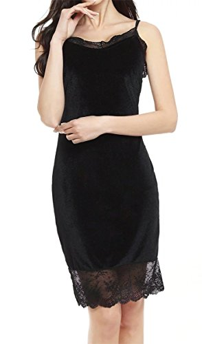 Lace Sexy Dress Bodycon Long Black Betusline Women's Fashion Velvet sleeve 6RwnApq