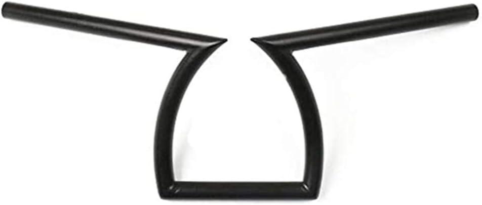 Motorcycle 1 25mm 7//8 22mm Drag Handlebar Z Bar 8-3//4 Rise For Yamaha Kawasaki Choppe Black, 1 25mm