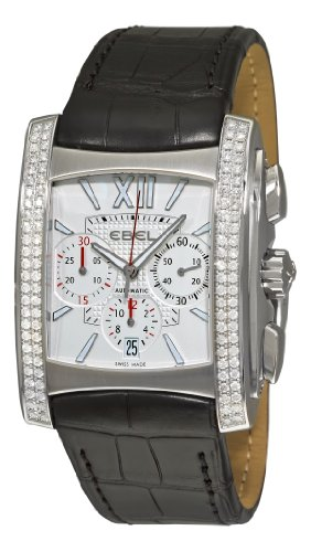 Ebel Men's 9126M59/6410351 Brasilia Silver Chronograph Dial Diamond Watch