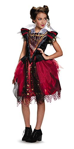 Queen Of Hearts Costumes (Disguise Red Queen Tween Alice Through The Looking Glass Movie Disney Costume, Large/10-12)