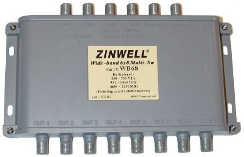 Generic WB68 Zinwell 6x8 Multiswitch Designed for DIRECTV MPEG-4 compression HD ()