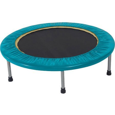 Gold's Gym Leisure Outdoors Sports & Fitness Mini Trampolines with Safety Pad -Blue (Beginner Rebounder Dvd)