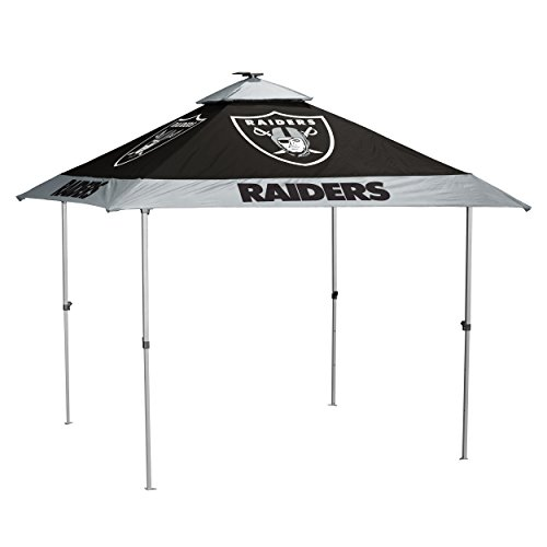(Logo Brands NFL Oakland Raiders Pagoda Tent Pagoda Tent, Charcoal, One Size)