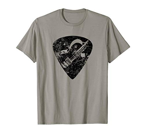 Guitar Pick Electric Silhouette Band Music Lover Musician T-Shirt