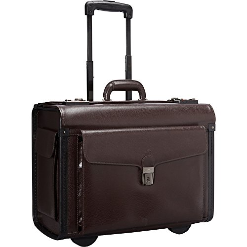 Mancini Leather Goods Deluxe Wheeled 17