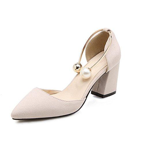 Talon Beige Grande Épais Sandales Taille Profonde Bouche Peu Femmes Haut Fait Avec Znna6UO5