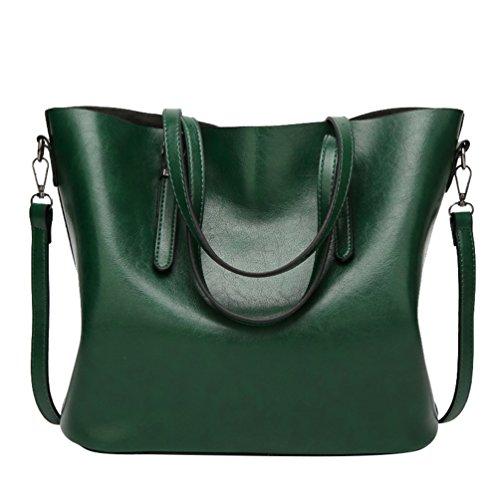 YiLianDa Damen Henkeltaschen Tote Handtasche Umhängetasche PU Leder Taschen Damen Shopper Schultertasche als Bild(2) trgUgeQ