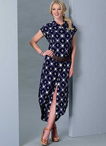 McCalls Patterns M73870Y0 Misses Button-Down Top Tunic XSM-SML-MED Dresses and Belt Sewing Pattern Y