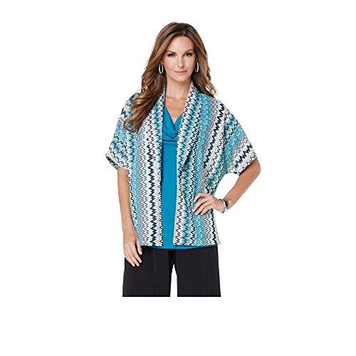 slinky-brand-womens-short-sleeve-chevron-open-front-jacket-large-turquoise