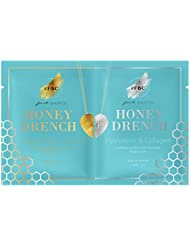 Fast Beauty Co. BFF Honey Drench Hydrating Gold & Silver Face Masks With Hyaluronic & Collagen, 2 Units