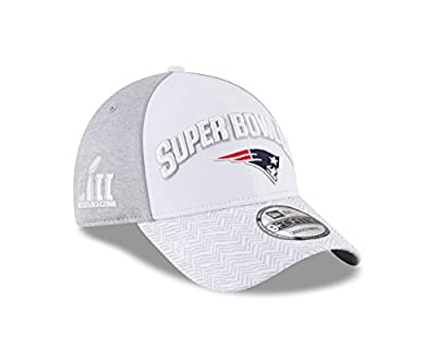 New Era New England Patriots Super Bowl LII Bound 9FORTY Adjustable Hat – White/Gray by New Era