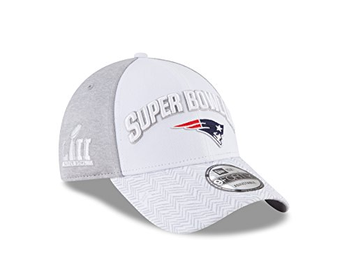 New England Patriots New Era Super Bowl LII Bound 9FORTY Adjustable Hat – White/Gray