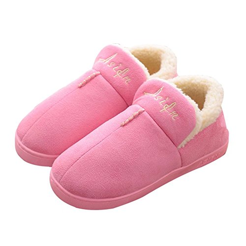 CIOR Warm Memory Winter House Indoor Shoes for Slipper Pink Men Foam Cotton Sole Outdoor Women rxrqzwFg