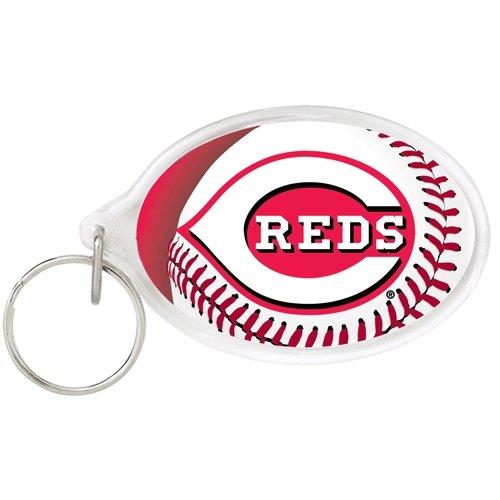 MLB 89474541 Cincinnati Reds Acrylic Carded Key Ring