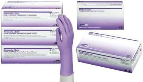 Halyard Health Nitrile Powder Free Exam Gloves, Disposable, Purple