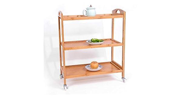 Achun Estante de bambú para Carrito de bebé IKEA, Carrito de té de Belleza Simple de Madera Maciza para Cocina, F: Amazon.es: Hogar