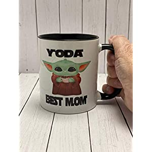 Baby Yoda Star Wars Best Mom Ceramic Mug – Mother's Day Gift for Wife Mommy – Sci Fi Present