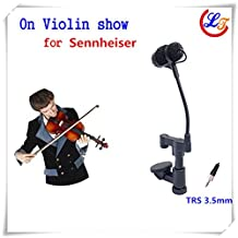 Professional Lapel Condenser Mandolin Violin Microphone Music Instrument Microfone for Sennheiser Wireless System TRS 3.5mm Jack