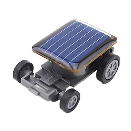(Lx10tqy Solar Power Energy Mini Racing Car Model Kids Children Educational Toy Gift Black)