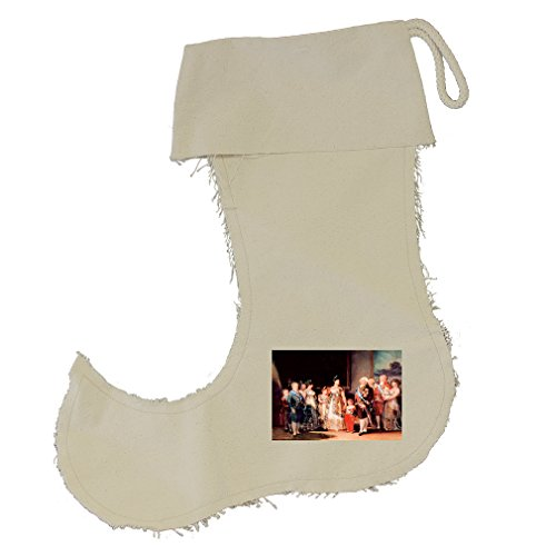 Charles Iv Of Spain & His Family (Goya) Cotton Canvas Stocking Jester - Small by Style in Print