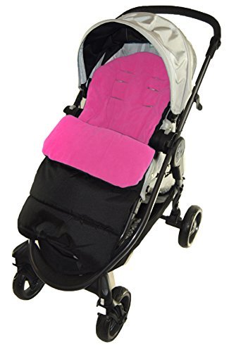 Footmuff//Cosy Toes Compatible with Venicci Travel Pushchair Pink Rose