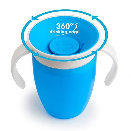 Copa Munchkin Miracle 360 Trainer, verde /azul, 7 onzas, 2 unidades