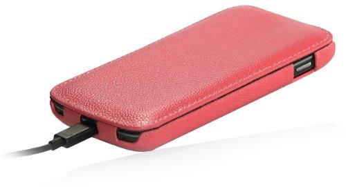 StilGut Funda UltraSlim de piel auténtica para el Google Nexus 4 / LG E960, Azul Noche Rosa