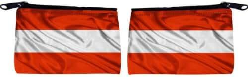 Rikki Knight Austria Flag Design Scuba Foam Coin Purse