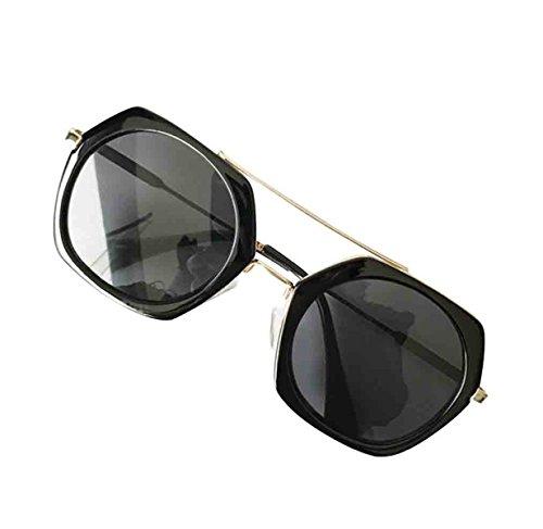 Poligonales Gafas De Sol Personalidad De Sol De De Nueva negro La Gafas Mujeres Las w8W6w41q