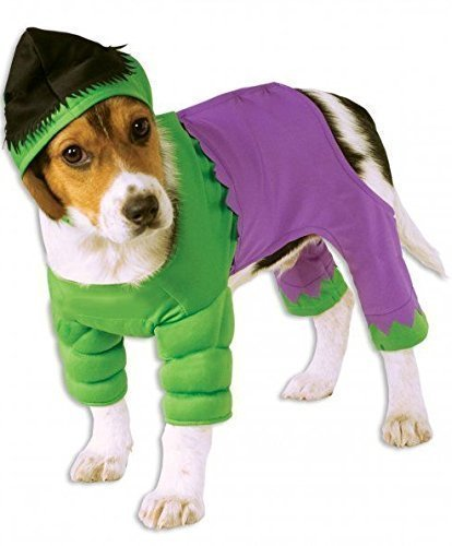 Pet Dog Cat Incredible Hulk Super Hero Halloween Fancy Dress Costume Outfit S-XL (Extra Large) ()