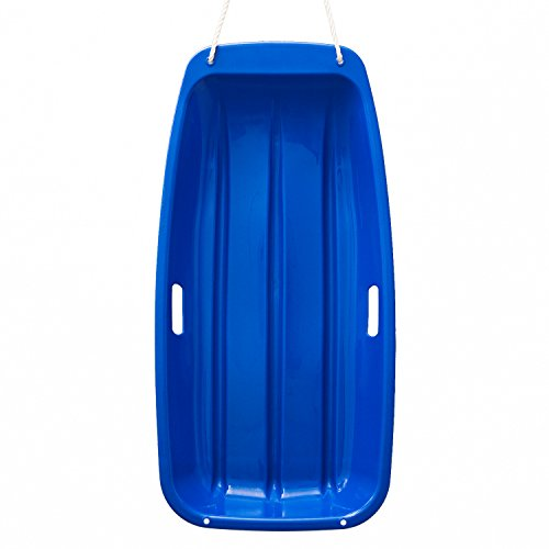 AGPtek Plastic Outdoor Toboggan Snow Sled for Child, 35-Inch, Blue
