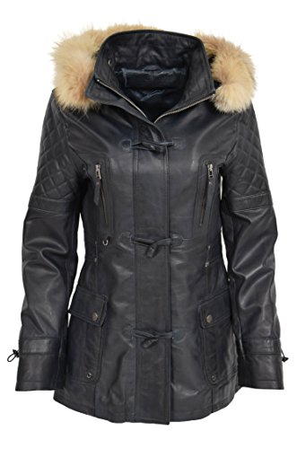 Duffle Abrigo Azul Fashion Mujer Goods Coat A1 Mangas largas vqt7at
