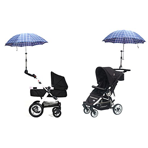 Zcargel Baby Stroller UV Protection Clip-On Umbrella Stand Holder Adjustable Sun Canopy Parasol Holder by Zcargel (Image #4)