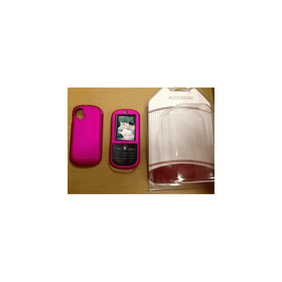Non slip Rubber Coated Hot Pink Case Cover for Alcatel Ot 606a T mobile Sparq