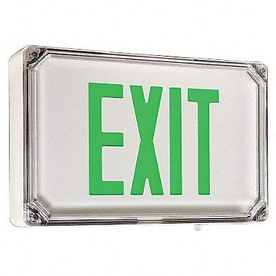Hubbell - SEWLSGWE-4X - LED Exit Sign with Battery Backup, White Housing Color, Cast Aluminum Housing Material