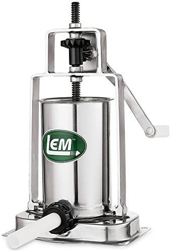 LEM Products 5 Pound Stainless Steel Vertical Sausage Stuffer by LEM
