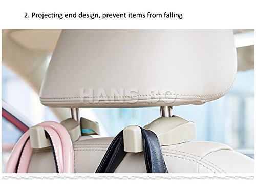 2PCS Car Fastener&Clip Interior Accessories Bags Auto Portable Seat hook Hanger Purse Bag Holder Organizer Holder Car Styling (Exterior Styling Accessories Parts)