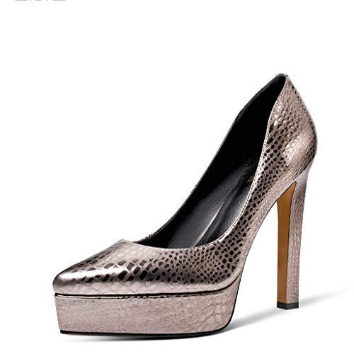 Sandales Silver Mariage en de mariée Cuir Talons Banquet Chaussures de Hauts Mariage 6IqSPT