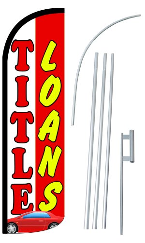Neoplex    Title Loans  12 Foot Super Swooper Feather Flag With Heavy Duty 15