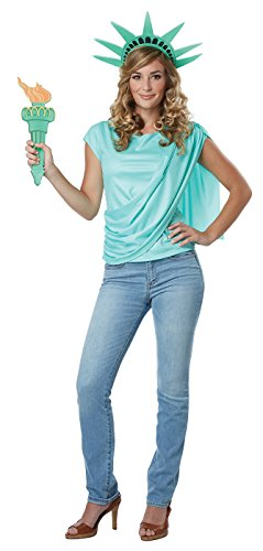 California Costumes Miss Lady Liberty Adult Costume Kit-Small