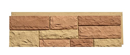 NextStone 6NPTS1 Random Rock Indoor/Outdoor Siding Panel 4-Pack, Tri-Sedona Red by NextStone