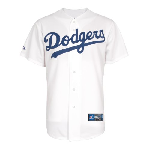 Majestic Fashion Replica Jersey - MLB Los Angeles Dodgers Home Replica Jersey, White, Medium