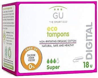GU Súper Tampones Digitales, Algodón Ecológico - 15 Unidades ...