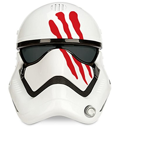 Star Wars FN-2187 Finn Adult Stormtrooper Voice Changing Mask with Blood (Stormtrooper Costume Disney)
